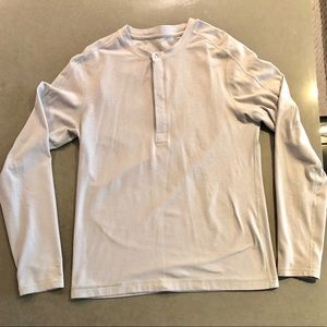 Lululemon Mens Long Sleeve Polyester Henley Shirt